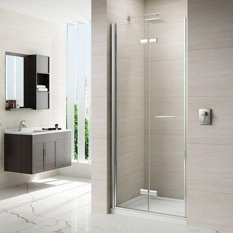 Merlyn 8 Series 1000mm Frameless Hinged Bi Fold Shower Door