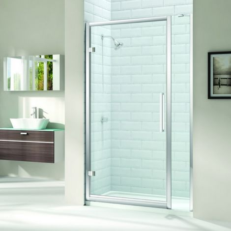 Merlyn 8 Series 1010mm Hinged Shower Door And Inline Panel