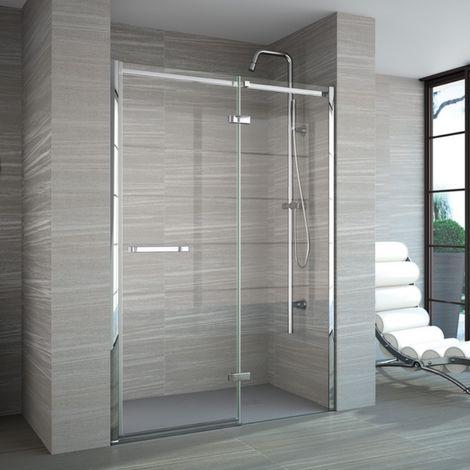 Merlyn 8 Series 1200mm Hinged Shower Door And Inline Panel