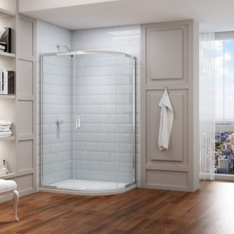 Merlyn 8 Series 1400 X 800 Offset Quadrant Shower Enclosure