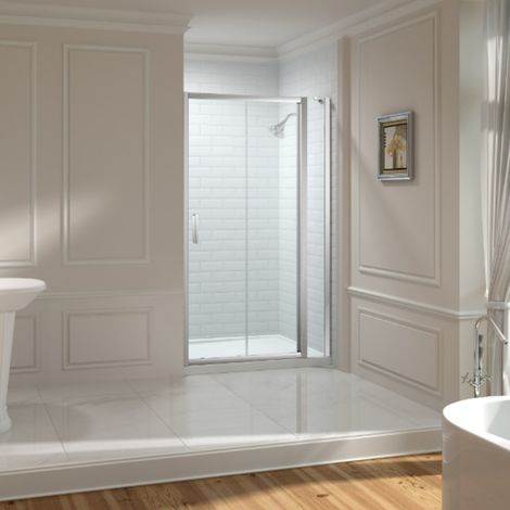 Merlyn 8 Series 1610mm Sliding Shower Door With Inline Panel