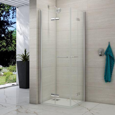 Merlyn 8 Series 760 X 760 Folding Corner Entry Hinged Shower Enclosure