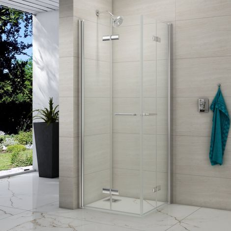Merlyn 8 Series 900 X 900 Folding Corner Entry Hinged Shower Enclosure
