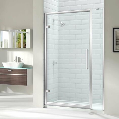 """main image of """"Merlyn 8 Series Hinged Shower Door 1000mm Wide and 150mm Inline - 8mm Glass"""""""