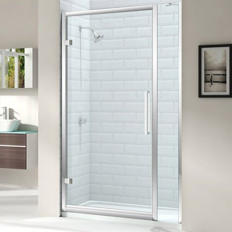"""main image of """"Merlyn 8 Series Hinged Shower Door 1000mm Wide and 210mm Inline - 8mm Glass"""""""