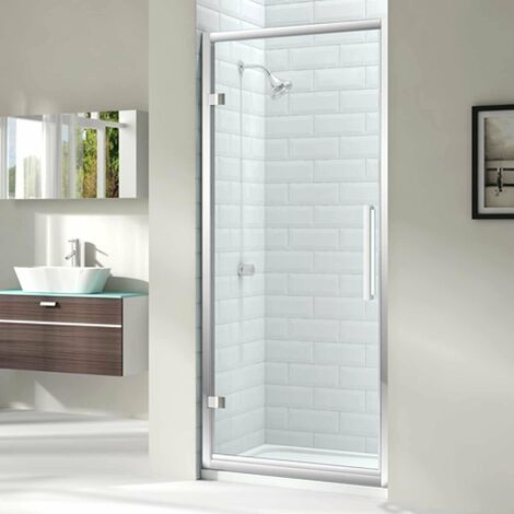 Merlyn 8 Series Hinged Shower Door 1000mm Wide - Clear Glass