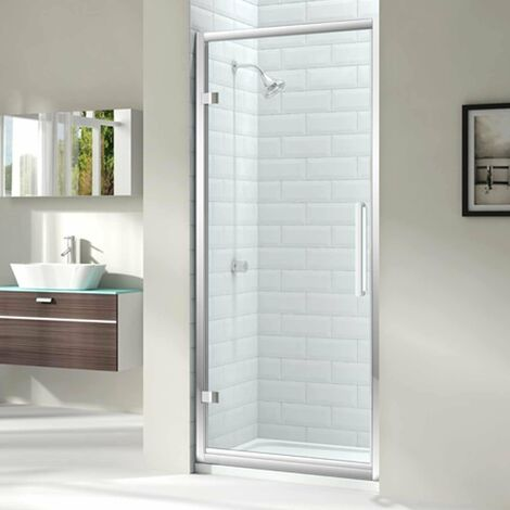 Merlyn 8 Series Hinged Shower Door 1000mm with 1000mm x 800mm Tray - 8mm Glass
