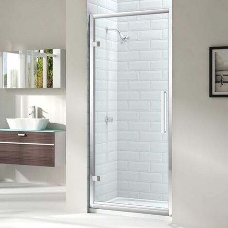 Merlyn 8 Series Hinged Shower Door 800mm Wide - Clear Glass