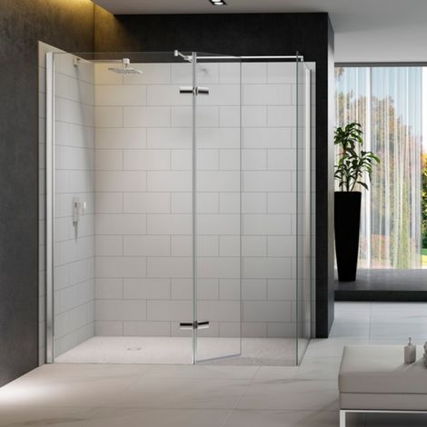 Merlyn 8 Series Hinged Walk-In Shower Enclosure, 1400mm x 900mm, 8mm Glass
