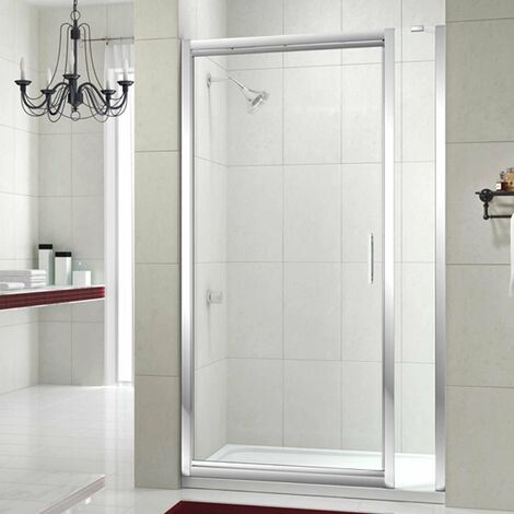Merlyn 8 Series Infold Shower Door 700mm Wide and 210mm Inline - 8mm Glass