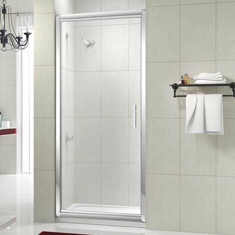 Merlyn 8 Series Infold Shower Door, 700mm Wide, Clear Glass