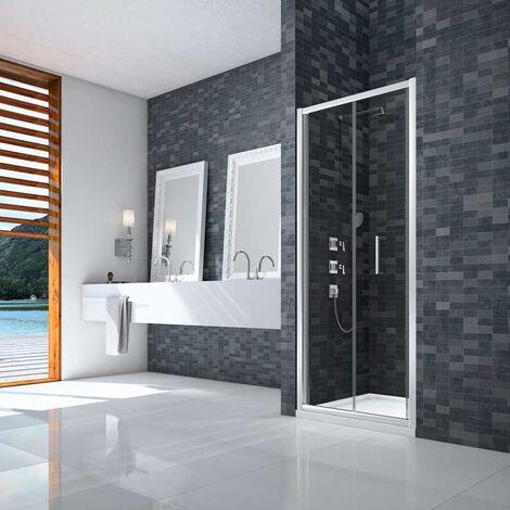 Merlyn Ionic Essence Framed Bi-Fold Shower Door 760mm Wide - 8mm Glass