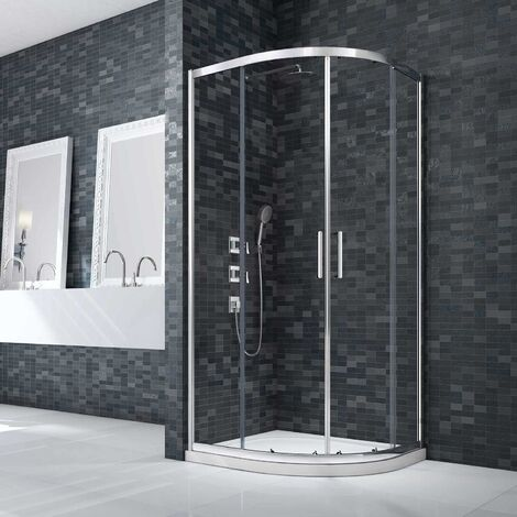 Merlyn Ionic Essence Framed Double Quadrant Shower Enclosure 800mm x 800mm - 8mm Glass