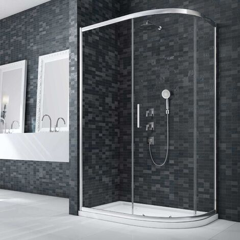 Merlyn Ionic Essence Framed Offset Quadrant Shower Enclosure 1200mm x 800mm - 8mm Glass