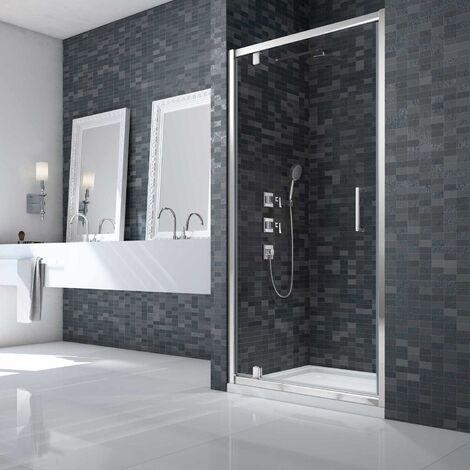 Merlyn Ionic Essence Framed Pivot Shower Door 760mm Wide - 8mm Glass