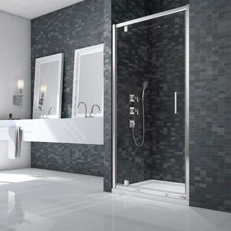 Merlyn Ionic Essence Framed Pivot Shower Door 900mm Wide - 8mm Glass