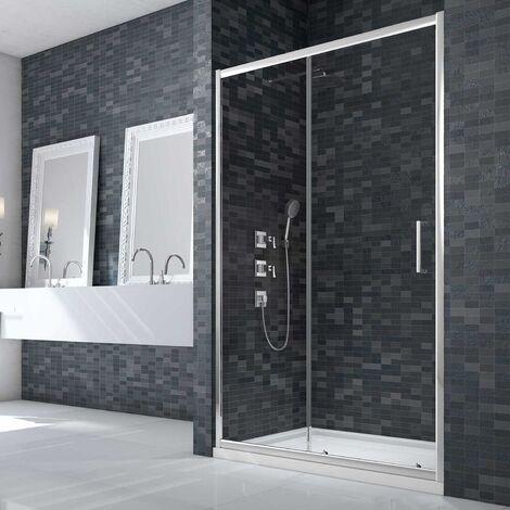 Merlyn Ionic Essence Framed Slider Shower Door 1200mm Wide - 8mm Glass