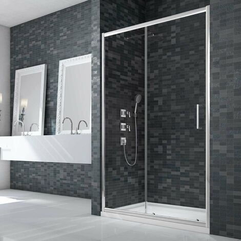 Merlyn Ionic Essence Framed Slider Shower Door 1400mm Wide - 8mm Glass