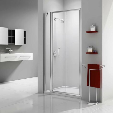 Merlyn Ionic Express Bi-Fold Shower Door and Inline Panel, 940mm-1000mm Wide, 6mm Glass