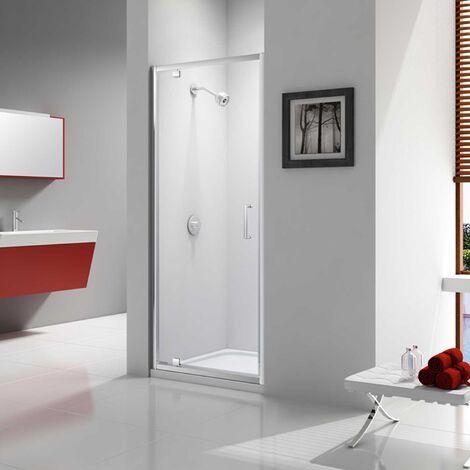 Merlyn Ionic Express Pivot Shower Door, 700mm Wide, 6mm Glass