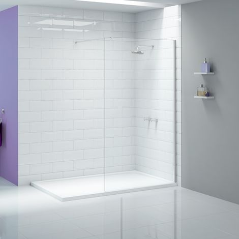 Merlyn Ionic Showerwall 1400mm Wet Room Screen and Stabilising Bar
