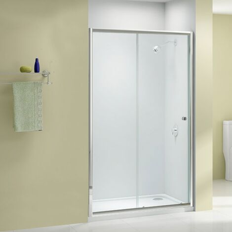 Merlyn Ionic Source Sliding Shower Door 1000mm Wide - 6mm Glass