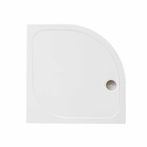 Merlyn Ionic Touchstone Quadrant Shower Tray with Waste, 800mm x 800mm, White