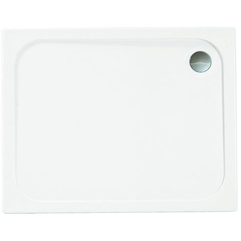Merlyn Ionic Touchstone Rectangular Shower Tray with Waste, 1000mm x 800mm, White
