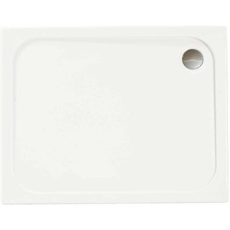 Merlyn Ionic Touchstone Rectangular Shower Tray with Waste, 1200mm x 700mm, White