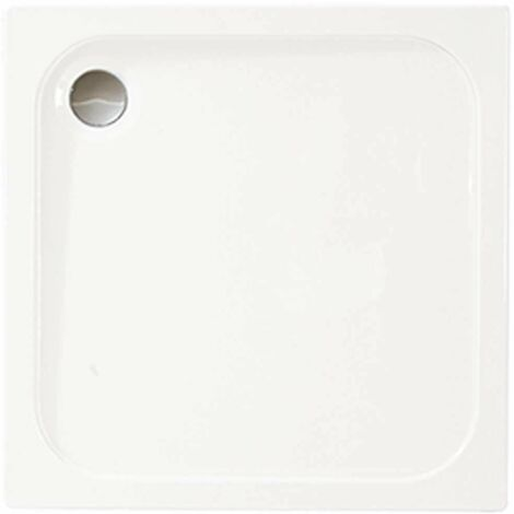 Merlyn Ionic Touchstone Square Shower Tray with Waste, 900mm x 900mm, White
