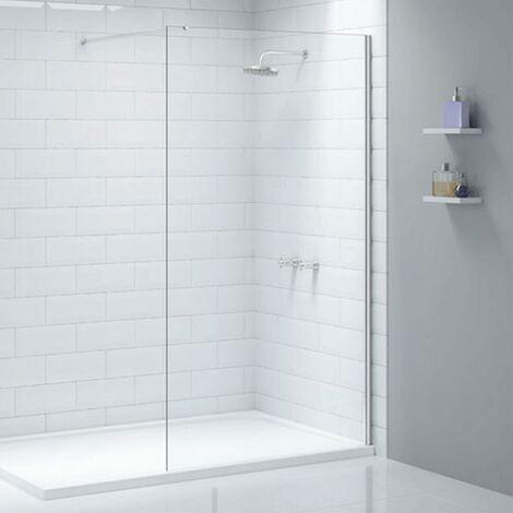 """main image of """"Merlyn Ionic Wet Room Glass Shower Panel 400mm W - 8mm Glass"""""""