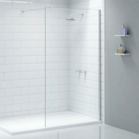 Merlyn Ionic Wet Room Glass Shower Panel, 700mm Wide, 8mm Glass