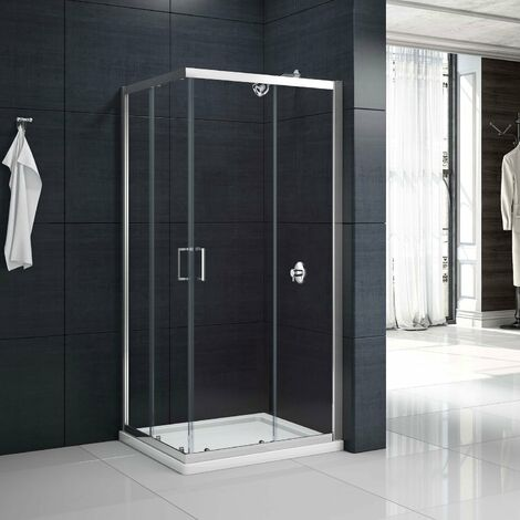 Merlyn Mbox Corner Entry Shower Enclosure 760mm x 760mm - 6mm Clear Glass
