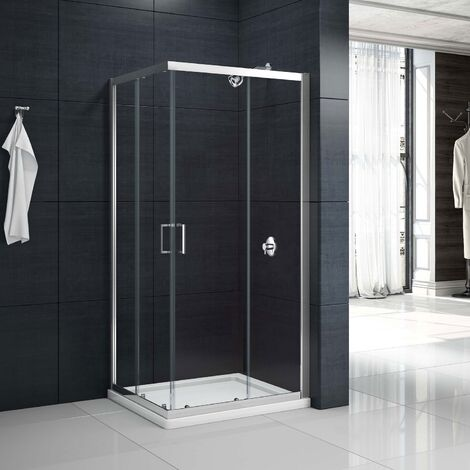 Merlyn Mbox Corner Entry Shower Enclosure 900mm x 900mm - 6mm Clear Glass