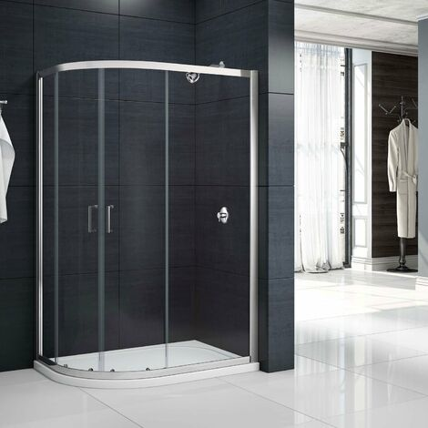 Merlyn Mbox Double Offset Quadrant Shower Enclosure 900mm x 800mm - 6mm Glass