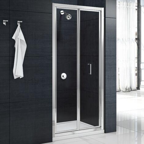 Merlyn Mbox Loft Height Bi-Fold Shower Door 760mm W x 1800mm H - 4mm Clear Glass