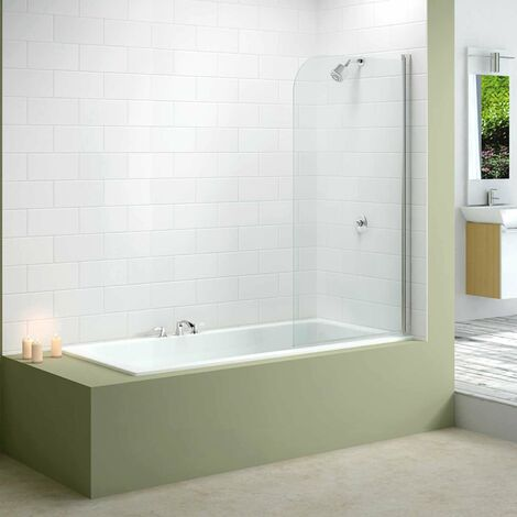 """main image of """"Merlyn Mbox Round Top Bath Screen 1500mm H x 800mm W - 6mm Glass"""""""