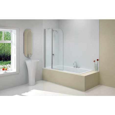 Merlyn MBox Two Panel Folding Curved Bath Screen