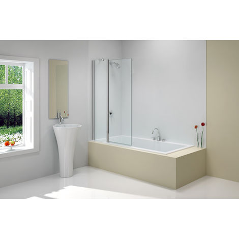 Merlyn MBox Two Panel Folding Square Bath Screen