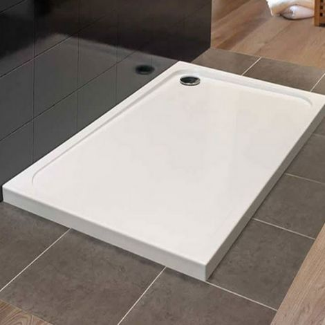 Merlyn Mstone 1200 X 760 Rectangular Shower Tray With Fast Flow Waste