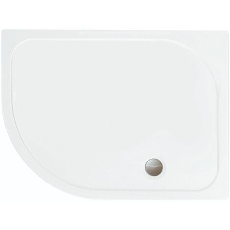 Merlyn MStone Offset Quadrant Shower Tray with Waste 1200mm x 800mm Left Handed - Stone Resin