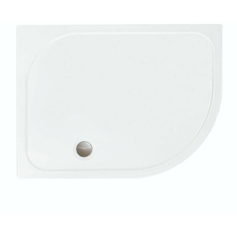 Merlyn MStone Offset Quadrant Shower Tray with Waste 900mm x 760mm Right Handed - Stone Resin