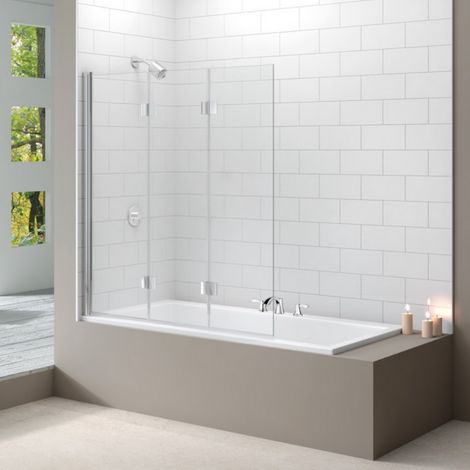Merlyn Standard Three Panel Folding Bath Shower Screen