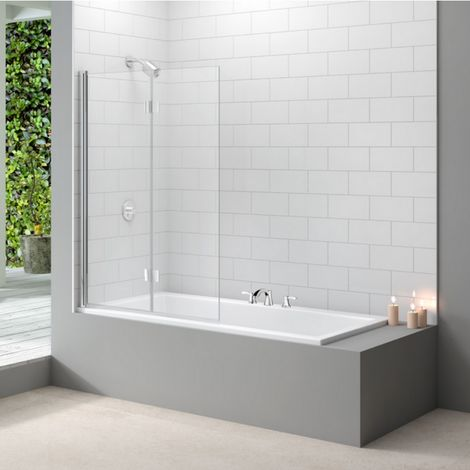 Merlyn Standard Two Panel Folding Bath Shower Screen
