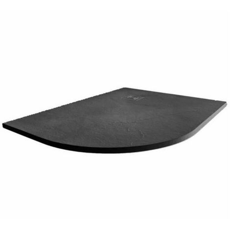 Merlyn Truestone 1200 X 900 Offset Quadrant Shower Tray Slate Black Lh