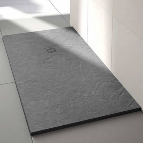 Merlyn Truestone 1400 X 800 Rectangular Shower Tray Fossil Grey