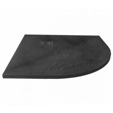 Merlyn Truestone 900 X 900 Quadrant Shower Tray Slate Black