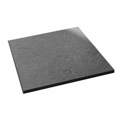 Merlyn Truestone 900 X 900 Square Shower Tray Slate Black