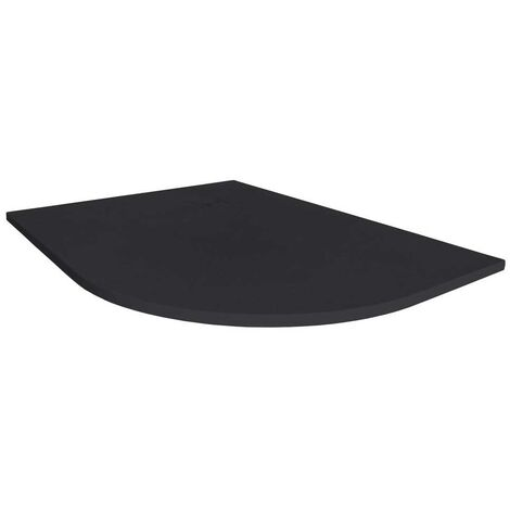 Merlyn TrueStone Offset Quadrant Shower Tray with Waste 1000mm x 800mm RH - Pure Black