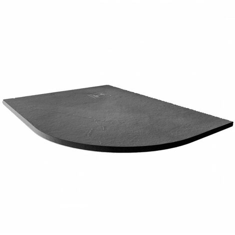 Merlyn TrueStone Offset Quadrant Shower Tray with Waste 1200mm x 900mm Right Handed - Slate Black